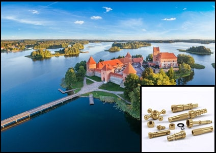 Brass Parts Fittings in Lithuania